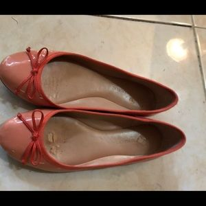 Patent orange banana republic flat shoes